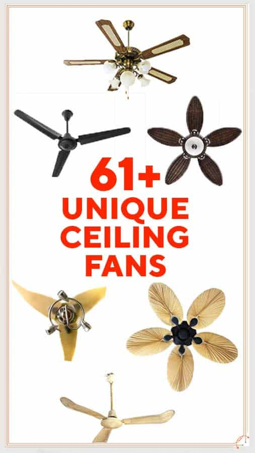 61 Unique Ceiling Fans For Your Home Knowtheflowcom