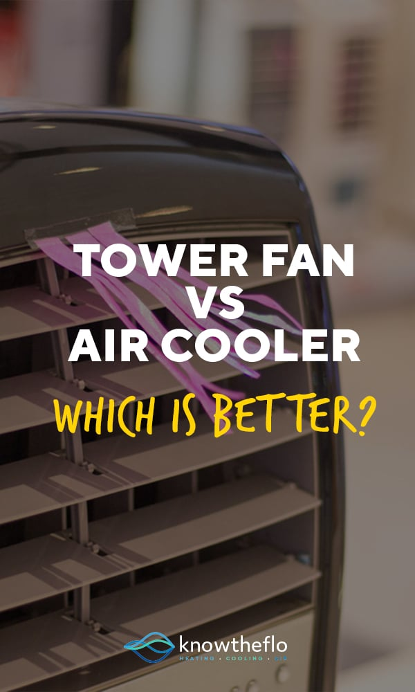 What is difference between a tower fan and air cooler?