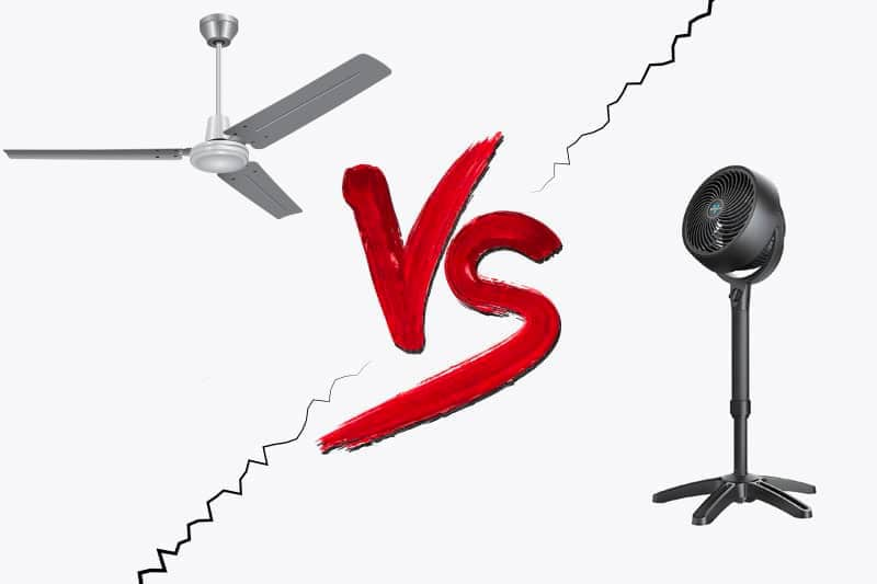 Ceiling fan vs stand fan